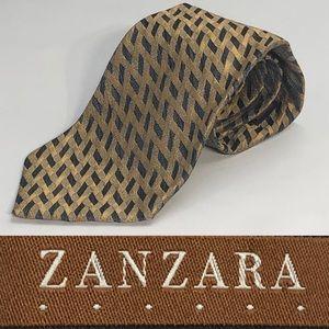 ZANZARA MADE IN ITALY 100% Silk Necktie Tie